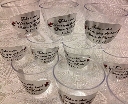 Personalized Bar Shot Cups