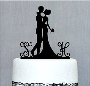 Personalized Wedding Cake Top Bride and Groom