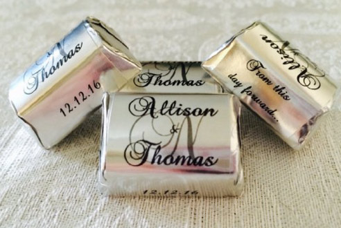 Personalized Wedding Reception Candy Wrappers