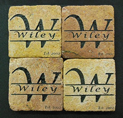 Personalized Stone Coaster Set