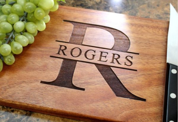 Personalized Hardwood Cutting Board