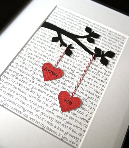 Heart Artwork Print Personalized