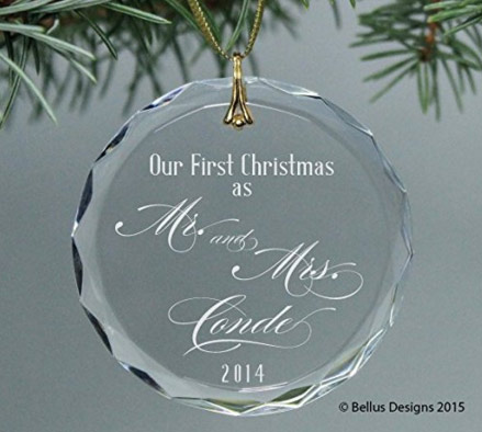 Personalized Mr and Mrs Christmas Ornament