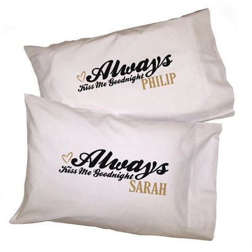 Personalized Kiss Me Goodnight Pillowcases