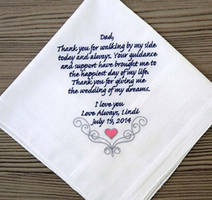 Personalized Wedding Handkerchief