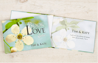 Personalized Book of Love Quotes