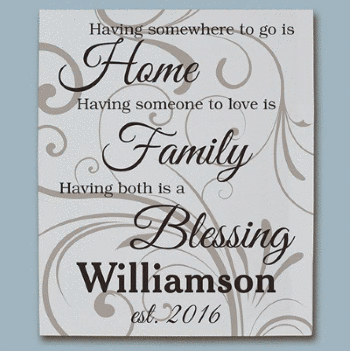 Personalized Family Blessing Wall Canvas