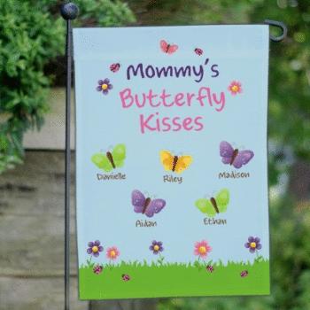 Butterfly Kisses Garden Flag for Mom