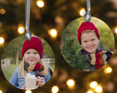 Personalized Photo Ornament With 2 Sided Picture