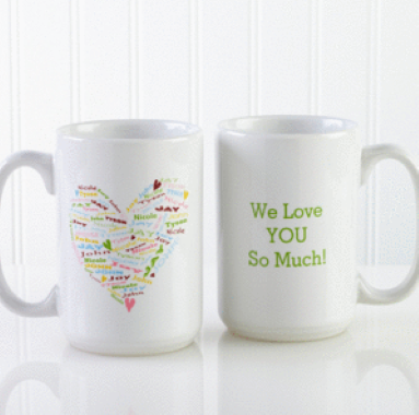 Her Heart of Love Personalized Coffee Mug