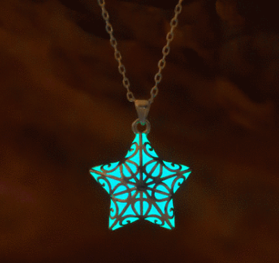 Small Glowing Star Necklace Birthday Gift by EpicGlows on Etsy