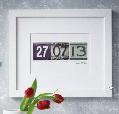 personalised date art print