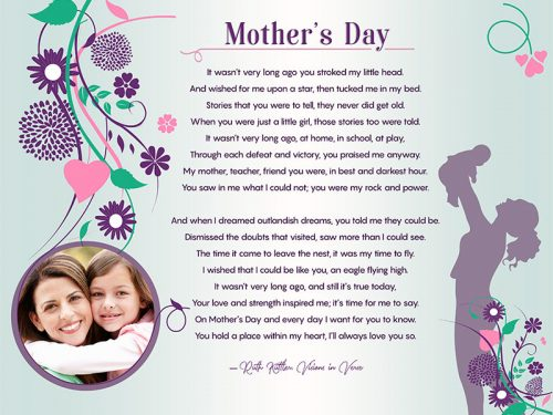 Original Floral Design Art Poem Mother's Day Gift to Personalize