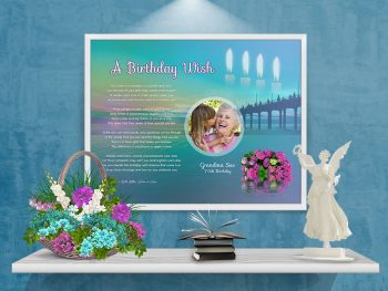 Birthday Personalized Framed Art Poem on Wall