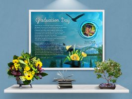 Mountain Bridge Personalized Graduation Art Poem Print Framed