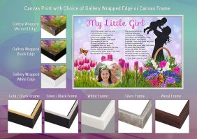 My Little Girl Mother-Daughter Canvas Print Gallery Wrapped Edge and Frame Choices