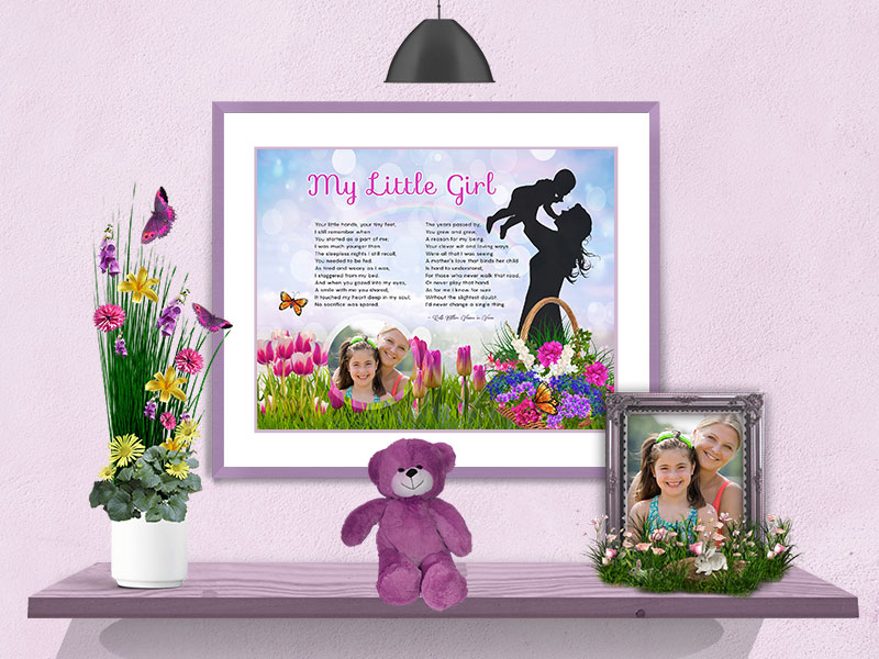 Spring Flowers Art Poem Mother-Daughter Personalized Gift
