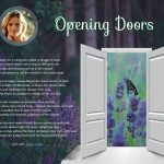 Opening Doors Purple Wildflowers Art Poem to Personalize