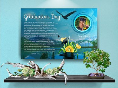 Poster Graduation Mountain Bridge Canvas Gallery Wrapped Art Poem