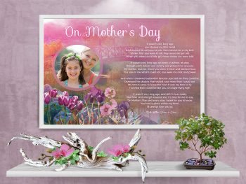 Poster Mother's Day Pink Bridge Art Poem Framed