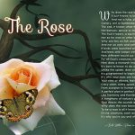 """The Rose"" Inspirational Green Branch Butterfly Art Poem Gift"