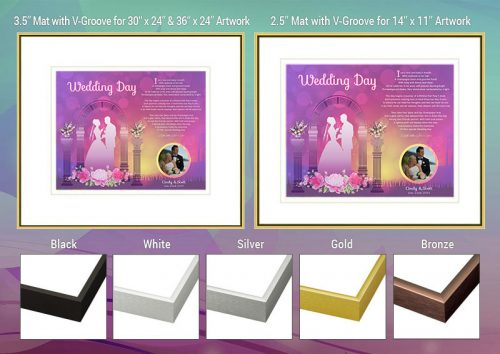 Wedding Sunset Arch Frame and Mat Choices