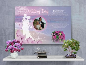 Poster Wedding Beach Canvas Gallery Wrapped Art Poem