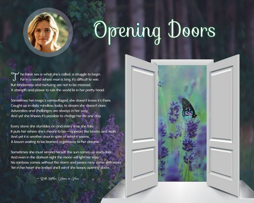 Opening Doors Wildflower Art Poem Personalized Inspirational Gift