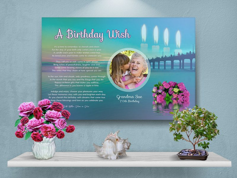 Personalized Birthday Art Poem with Canvas Wrapped Edge