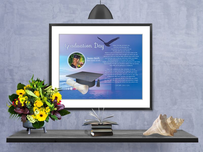 Personalized Graduation Art Poem in Matted Frame