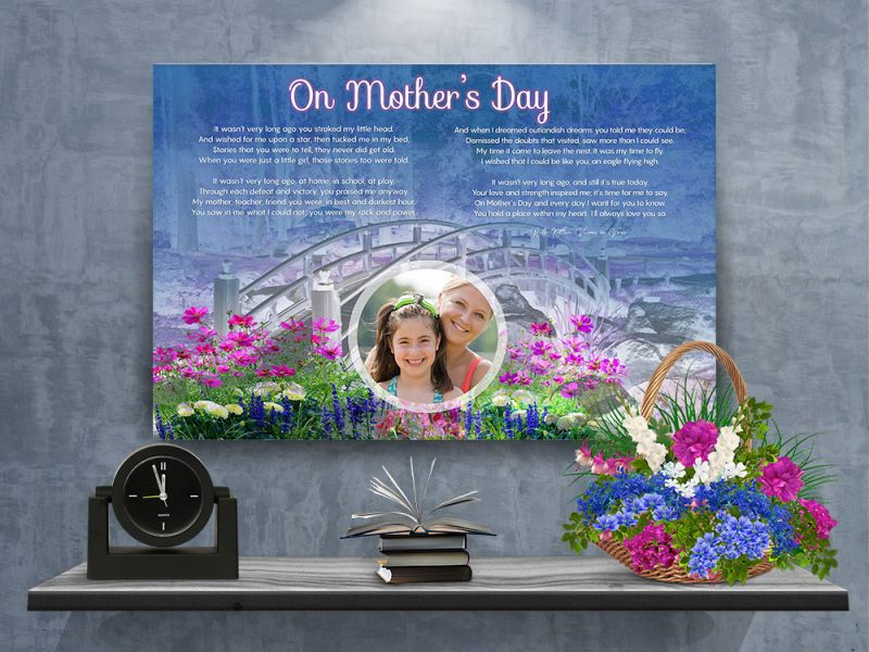 Personalized Mother's Day Art Poem with Canvas Wrapped Edge
