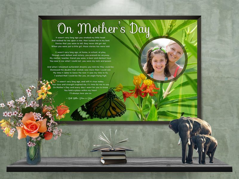 Personalized Mother's Day Art Poem Framed