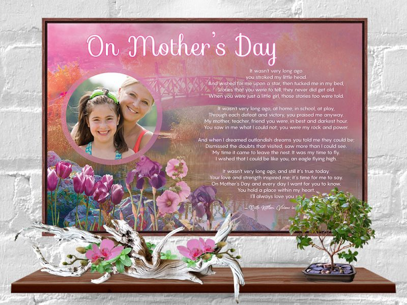 Personalized Mother's Day Art Poem in Canvas Floater Frame