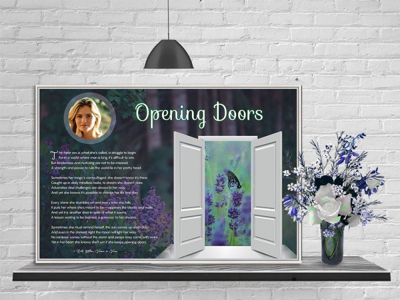 Personalized Inspirational Art Poem for Her in Canvas Frame