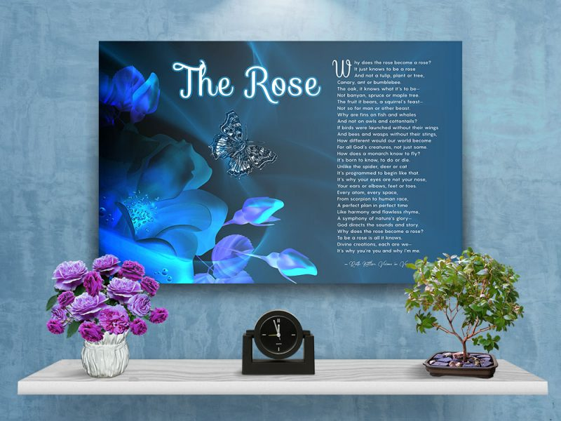 The Rose Spiritual Art Poem with Canvas Wrapped Edge