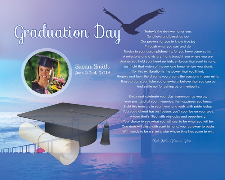 Bridge Art Poem Personalized Graduation Gift